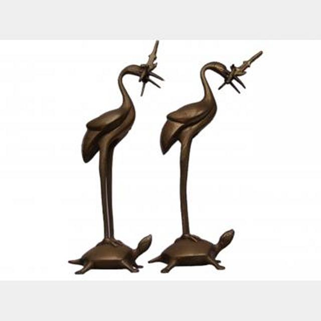 Brass Bird Figurines X2