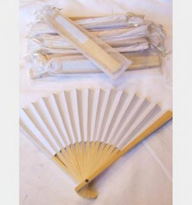 Plain White Hand Fan X20