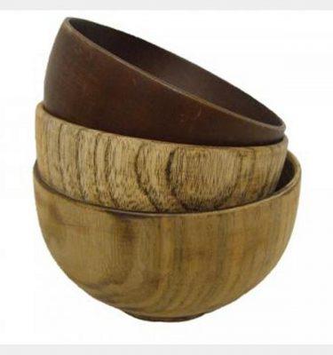 Wooden Bowls X3