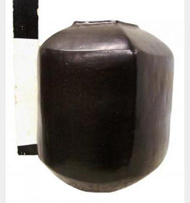 Black Cermaic Vase 350X320Mm Dia