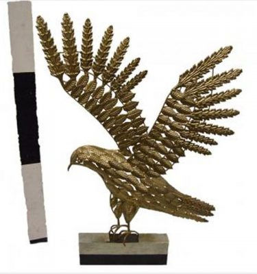 Metal Bird Sculptures X4 710Mm High