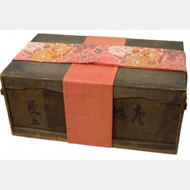 Wooden Chest With Fabric Wrap   350X600X250Mm