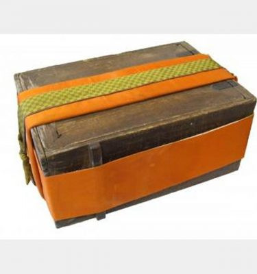 Wooden Travelling Chest With Fabric Wrap   350X600X250
