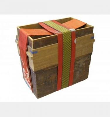 Wooden Travelling Chest With Fabric Wrap   300X600X500Mm