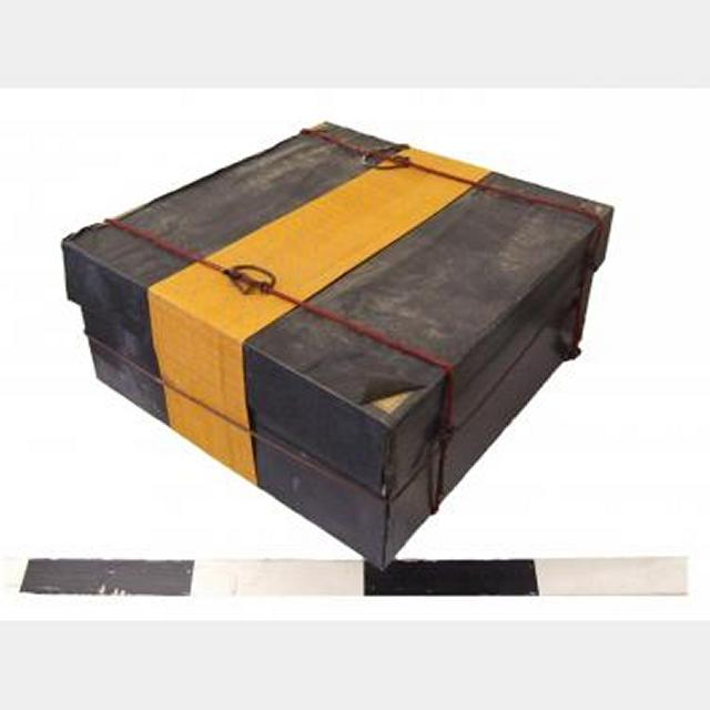 Wooden Travelling Chest With Fabric Wrap   610X610X250Mm