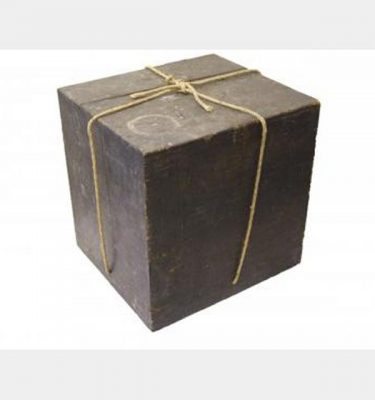 Black Wooden Box With String   370X420X420