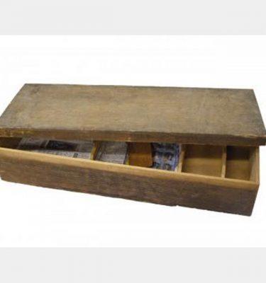 Wooden Storage Box 125X700X270Mm