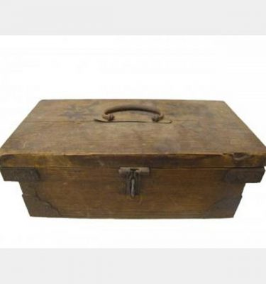 Wooden Box With Cast Iron Detailing