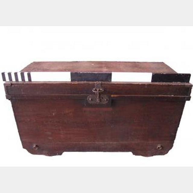 Wooden Chest   Cast Iron Fittings   800X1440X690Mm