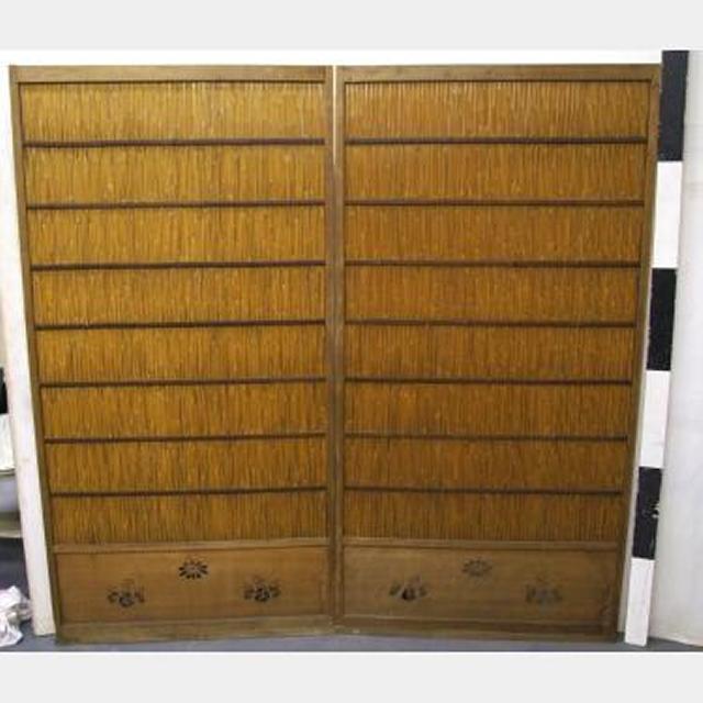 Pair Of Bambo Sliding Doors 1800X920Mm