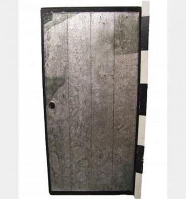 Silver Painted Wooden Door   Plain Back X10  1920X920Mm