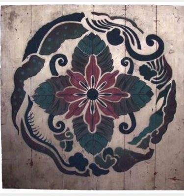 Gilded Artist Painted Panelsx4  850X850Mm
