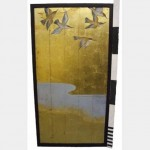 Gold Panel With Birds 1800Hx920Mm