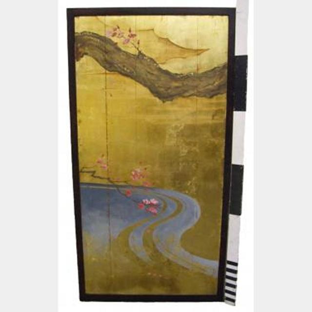 Gold Panel With  Branch 1800Hx90Mm