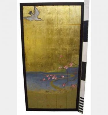 Gold Panel With Bird 1800Hx920Mm