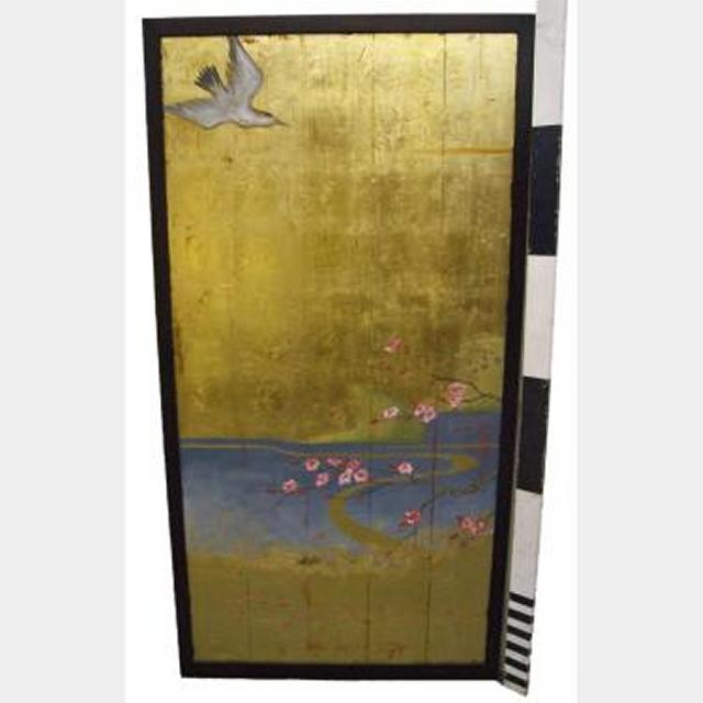 Gold Panel With Bird 1800Hx920Mm