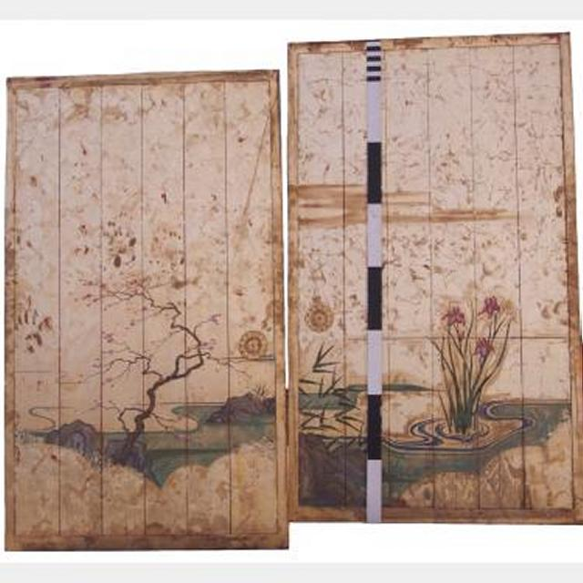 Wooden Panels With Gold Painting X2 2340X1280Mm