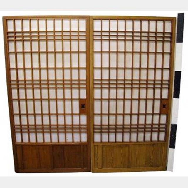 Stained Wooden Sliding  Doors Can Go On Tracks X18 1800X920Mm