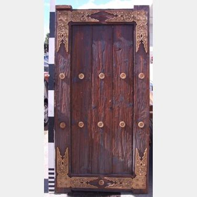 0105045 Japanese Heavy Exterior Timber Door With Gold Detailing X 4