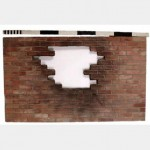 Brick Wall With Hole Flat With Bricks Available To Fill Hole 2380X1420Mm