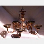 Gold Hanging Electric Candelabra 340X540X540