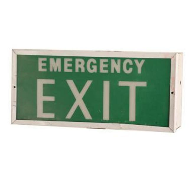 Emergency Exit Sign 195X430X120