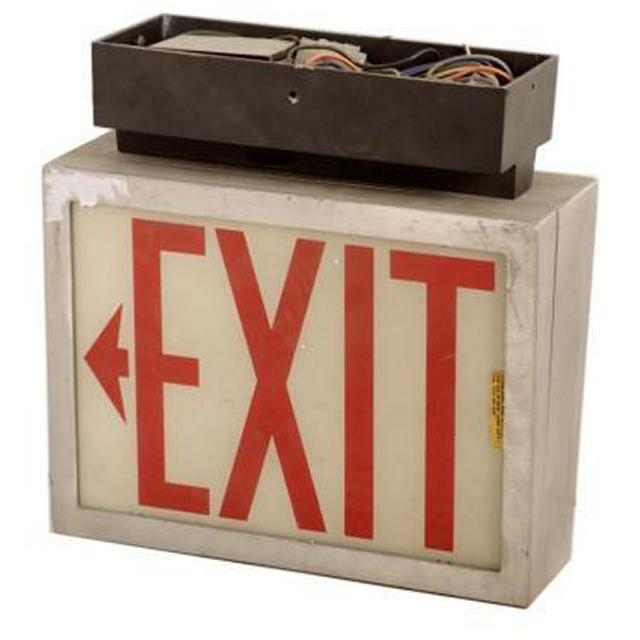 Emergency Exit Sign X3 340X340X140