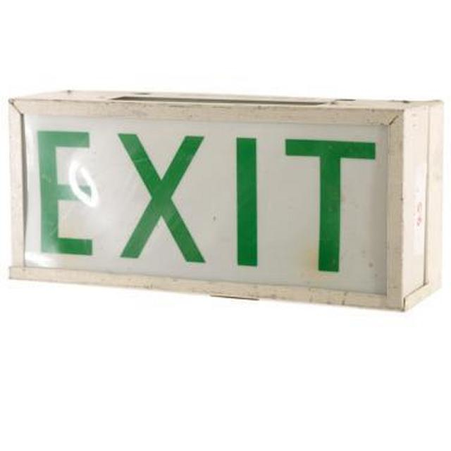 Emergency Exit Sign 190X430X130