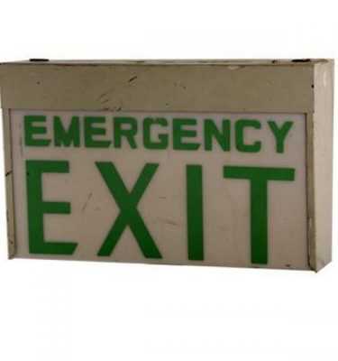 Emergency Exit Lightbox 265X420X140