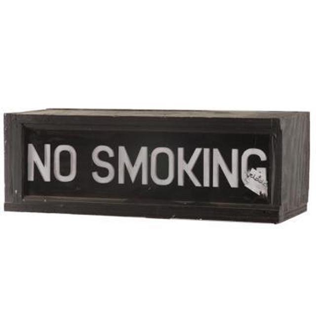 No Smoking Lightbox 200X585X180