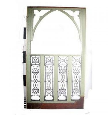 Gothic Arch Panel Cast Iron Infill X2 2680X1560
