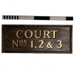 Court No 1 2 3 Wooden Signage 1355X550