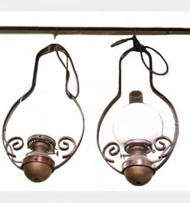 Hanging Oil Lamps Banjo Style Opal Globe X12 700X500Mm