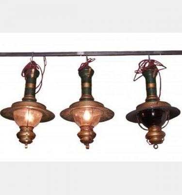 Hanging Oil Lamps Electrified For Stage Use X3 600X400Mm