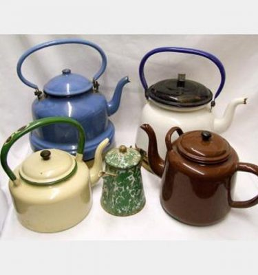 Enamel Kettles And Teapots