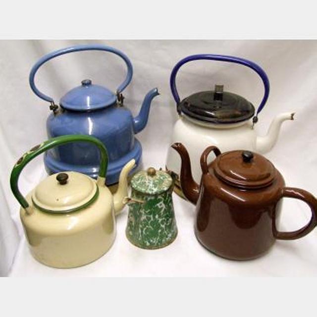 Enamel Kettles And Teapots