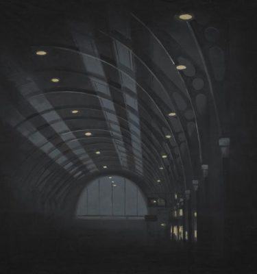 Backdrop 040~0 Train Station Tunnel 12'X12'