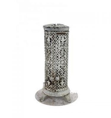 Oil Burner White Pierced Ornate Sides 730X280D