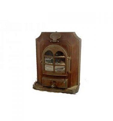 Rusty Wood Burner Stove 730X610X300