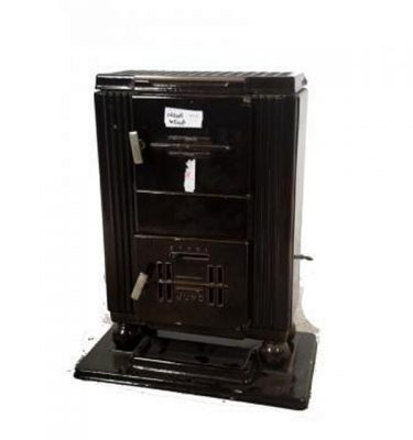 Art Deco Wood Burning Stove Brown 620X415X320