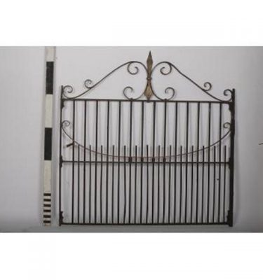 Wrought Iron Gate  Georgian  Scroll Top Detail                      220X1345