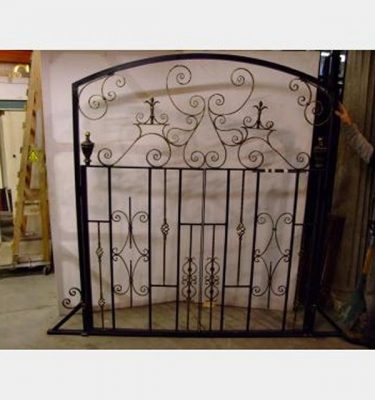 Large Quadrant Railing Gates Curved Top  1300X3450