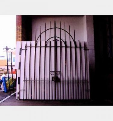 Large Double Gates Arched Top Matches Railing Run