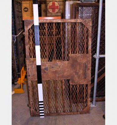 Metal Barred Gate With Mesh Heavy And Rusty Detail 1610X1034