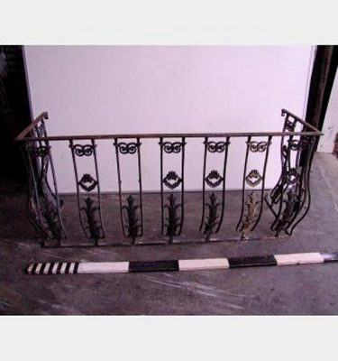 Iron Railing Balcony X 2Off 1800 Wide 500 Return