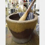 Oversized Wooden Pestle And Mortar Pestle 695Mm Long Bowl 380X380X310H
