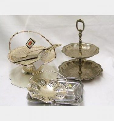 Silver Serving Trays Assorted