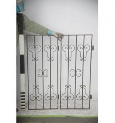 Wrought Iron Bar  Grille X 2Off                     1220X490