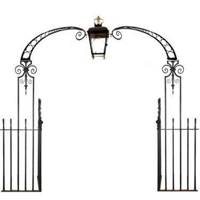 Downing St Archway And Lamp With Side Railings