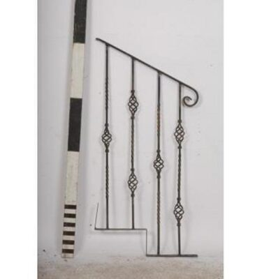 Bannister End  Rail  Wrought Iron Detail                              1250X610